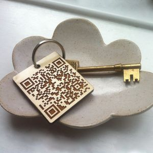 Personalised Unique QR Code Keyring - keyrings