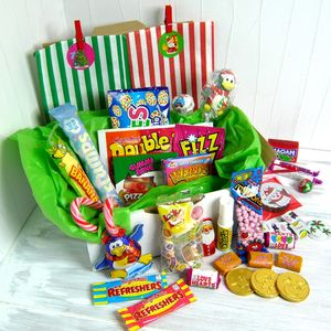 Bunting Advent Calendar With All The Sweets - advent calendars