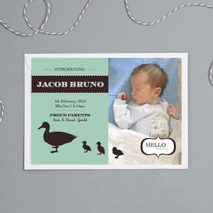 'Duckling' New Baby Announcement Cards
