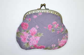 Clip Purse in Vintage rose plum