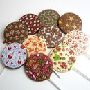 Christmas Chocolate Lollies, Set Of 10