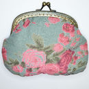 Clip purse in Vintage rose antique green