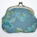 Clip Purse in Vintage Rose bluebell