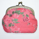 Clip Purse in Vintage rose coral
