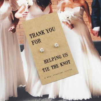 Thank You Bridesmaid Knot Earrings