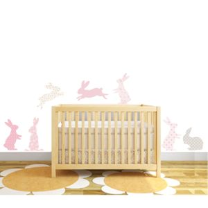 Rabbit Fabric Wall Stickers - decorative accessories