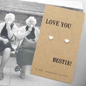 Silver Best Friend Gift Earrings - palentine's gifts