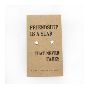 Friendship Star Silver Earrings - gifts for friends