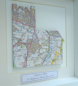 Personalised Wedding Gift | Church Map Picture
