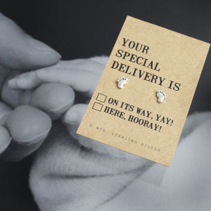 'Your Special Delivery' Silver Earrings