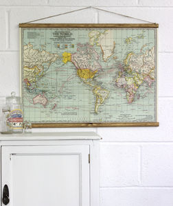 The Century Atlas Map Of The World Wall Hanging