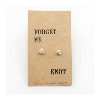 'Forget Me Knot' Silver Earrings