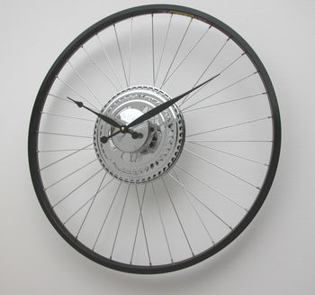 Bike Wheel Clock Black Rim