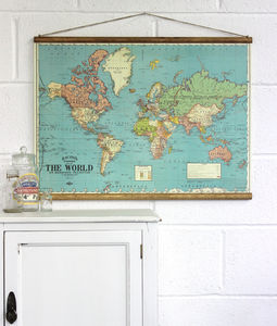 Bacon's Map Of The World Wall Hanging