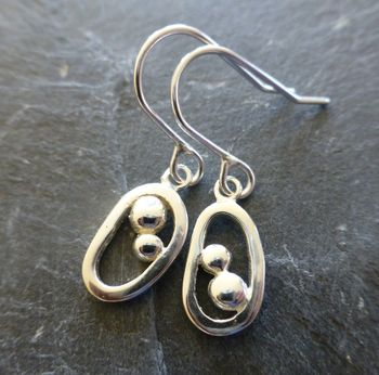 Oxygen Silver Drop Earrings