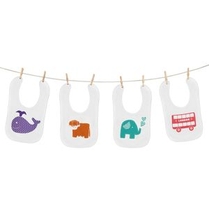 Cute Screen Printed Baby Bib - bibs