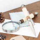 Gentlemen's Letter Opener And Magnifying Glass