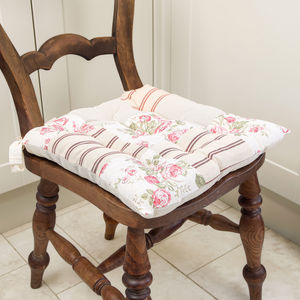 Vintage Patchwork Seat Pad - cushions
