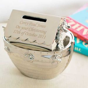 Engraved Noah's Ark Money Box - shop by occasion