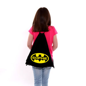 Personalised Superhero P.E Bag - bags, purses & wallets
