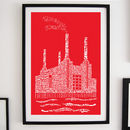 Battersea Power Station Typography Print