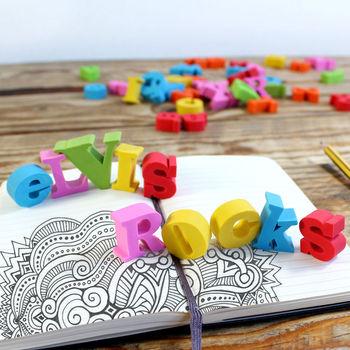 Personalised Alphabet Erasers