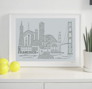 San Francisco Typography Print - architecture & buildings