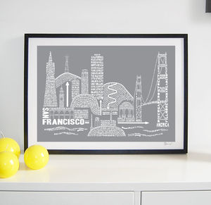 San Francisco Typography Print - posters & prints