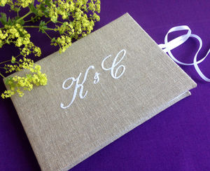 Personalised Monogrammed Guest Book
