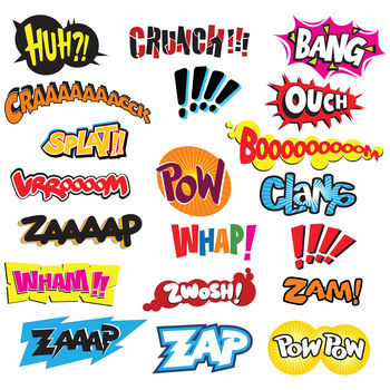 Comic 'Pow' 'Splat' Wall Stickers