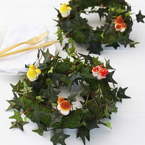 Woodland Wedding Mushroom And Toadstool Wreath - table decorations