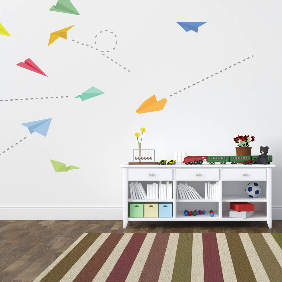 Paper Plane Wall Stickers By Spin Collective