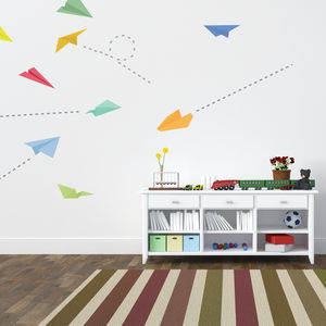 Paper Plane Wall Stickers - wall stickers