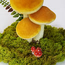 Autumn Wedding Mushroom Table Centrepiece