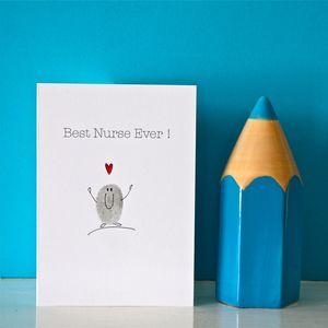 Best Ever Nurse Card - retirement cards