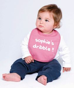 Pink, Red Or Blue Personalised Bibs - shop by price