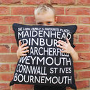 Personalised Destinations Canvas Cushion