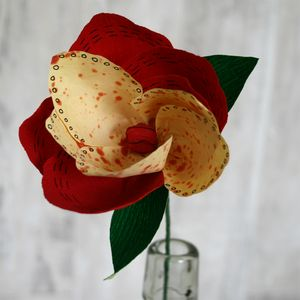 Red Pop Paper Flower - artificial flowers