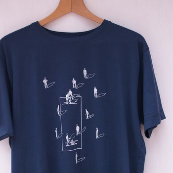 Positions On A Cricket Field T Shirt In Blue