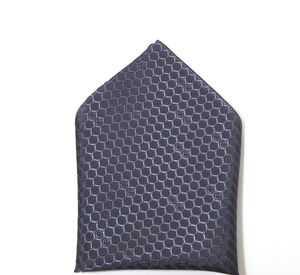 Pure British Silk Oxford Pocket Square In Honeycomb - ties & tie clips