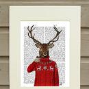 Deer Print, Deer In Ski Sweater
