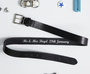 Personalised Secret Message Belt - groomed to perfection