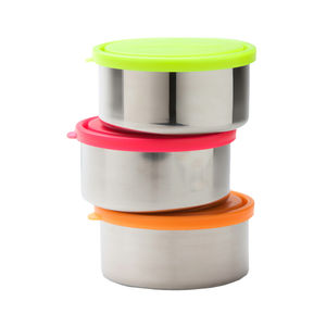 Large Round Stainless Steel Containers - picnics & bbqs