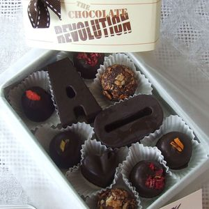 Initials + Organic Naturally Sweetened Raw Chocolates
