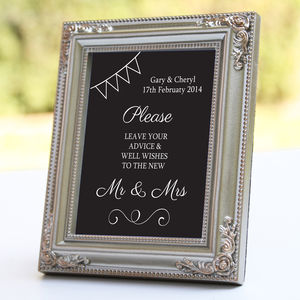 Personalised Guest Book Wedding Sign - room decorations