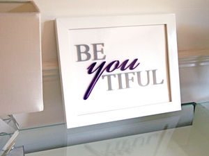 'Be You Tiful' Framed Wall Art