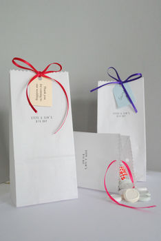Pack Of Ten Sweetie And Favour Bags