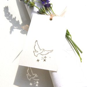 Wedding Place Card, Favour Or Gift Tag Laser Cut Dove - wedding stationery
