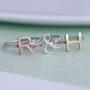 Personalised Letter Stacker Ring - rings
