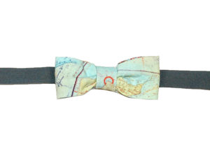 Sea Chart Bow Tie In A Wooden Box